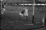 Railway Cup Final. Famed Cork hurler, Christy Ring, in full flight at the match with Leinster in Croke Park. 963: Semi-Final: Munster 9-7 Ulster 3-5. Final: Munster 5-5 Leinster 5-5. Final Replay: Munster 2-8 Leinster 2-7.<br /> Team: Mick Cashman, Jimmy Brohan (Cork), Michael Maher, John Doyle (Tipperary), Tom McGarry (Limerick), Tony Wall (Tipperary), Jimmy Byrne, Joe Condon (Waterford), Theo English, Jimmy Doyle (Captain, Tipperary), Jimmy Cullinane (Clare), Donie Nealon, Liam Devaney (Tipperary), Christy Ring (Cork), Jimmy Smyth (Clare), Kieran Carey, Mick Burns (Tipperary), P.J. Keane (Limerick), Tom Ryan (Tipperary), Frankie Walsh (Waterford).