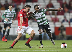 February 7, 2019 - Na - Lisbon, 06/02/2019 - SL Benfica received this evening the Sporting CP in the Stadium of Light, in game the account for the first leg of the Portuguese Cup 2018/19 semi final. Gabriel and Wendel  (Credit Image: © Atlantico Press via ZUMA Wire)