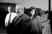 Detective Dennis P. Kilcoyne (White Shirt); Detective Paul Coulter; Detective Silvina Yniquez