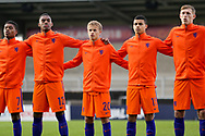 Netherlands sing their anthem during the UEFA European Under 17 Championship 2018 match between Netherlands and Spain at the Pirelli Stadium, Burton upon Trent, England on 8 May 2018. Picture by Mick Haynes.