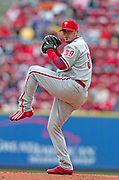 May 14, 2006, Cincinnati, Ohio, USA;  Starting pitcher Brett Myers of the Philadelphia Phillies goes seven innings against the Cincinnati Reds giving up four hits, and one earned run as the Phillies defeated the Reds 2-1 at Great American Ballpark.