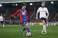 Lee Chung-Yong of Crystal Palace looks to go past  Mark Beevers of Bolton Wanderers . Emirates FA Cup 3rd round replay match, Crystal Palace v Bolton Wanderers at Selhurst Park in London on Tuesday 17th January 2017.<br /> pic by John Patrick Fletcher, Andrew Orchard sports photography.