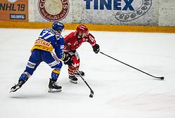 #89 Luka Basic of Jesenice during ice hockey match between HK SIJ Acroni Jesenice and Asiago Hockey in Round #3 of Alps Hockey League 2018/19 , on September 22, 2018 in Podmezakla hall , Jesenice, Slovenia. Photo by Urban Meglic / Sportida