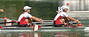Lucerne, SWITZERLAND,  A Finals, CAN LW2X Bow Lindsay JENNERICH and Tracy CAMERON,  at the 2007 FISA World Cup, Lucerne, on the Rotsee Lake, 15/07/2007  [Mandatory Credit Peter Spurrier/ Intersport Images] , Rowing Course, Lake Rottsee, Lucerne, SWITZERLAND.