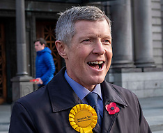 Willie Rennie supports Lib Dem candidates, Edinburgh, 6 November 2019