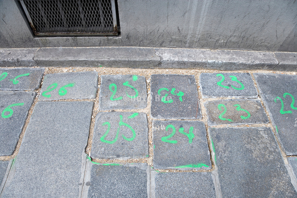 street tiles with numbers