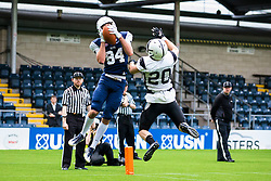 Touchdown, London Blitz wide receiver catch a pass in the end zone - Mandatory by-line: Jason Brown/JMP - 27/08/2016 - AMERICAN FOOTBALL - Sixways Stadium - Worcester, England - London Warriors v London Blitz - BAFA Britbowl Finals Day