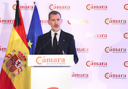 060120 King Felipe of Spain attends Extraordinary plenary session of the Spanish Chamber of Commerce