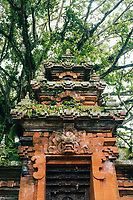 A small overgrown temple in Ubud in Bali, Indonesia.