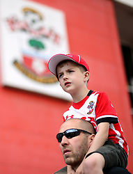 Southampton fans before the Premier League match at St Mary's Stadium, Southampton.