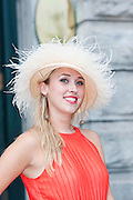 Annmarie Wrafter, Limerick city at the Hotel Meyrick Most Stylish Lady event on ladies day of The Galway Races. Photo:Andrew Downes