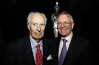 John Deacon CBE and Sir George Martin CBE, The BRIT School Industry Day, Croydon, London..Thursday, Sept.22, 2011 (John Marshall JME)