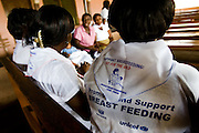 Meeting for members of a breast feeding support group at the La Polyclinic in Accra, Ghana on Tuesday June 16, 2009.