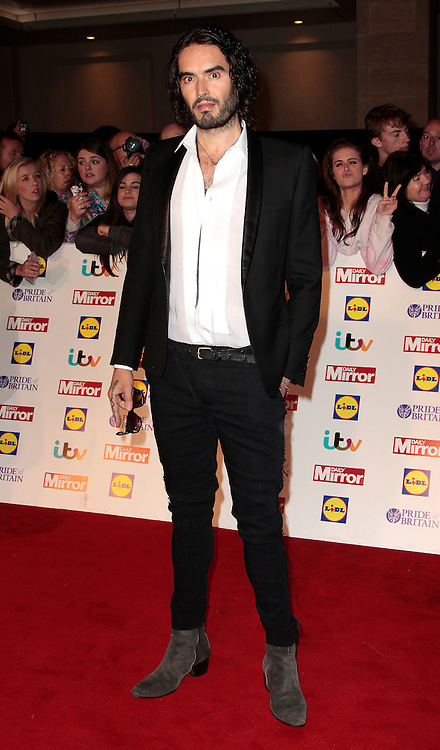Pride of Britain Awards 2014 Red Carpet Arrivals at The Grosvenor House Hotel, London<br /> <br /> Photo Shows: Russell Brand<br /> ©Exclusivepix