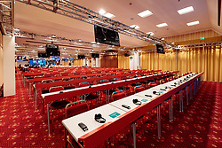 25.05.2017, Giardini Naxsos, ITA, 43. G7 Gipfel in Taormina, im Bild Pressearbeitsraum im Hilton Hotel // Press room at the Hilton Hotel before the 43rd G7 summit in Giardini Naxsos, Italy on 2017/05/25. EXPA Pictures © 2017, PhotoCredit: EXPA/ Johann Groder