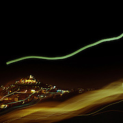 A Panoramic view of Athens, Greece at night showing the Acropolis in Athens, Greece on September 23, 2007 Photo Tim Clayton