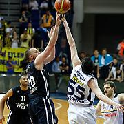 Anadolu Efes's Dusko Savanovic (2ndL) during their Turkish Basketball league derby match Fenerbahce Ulker between Anadolu Efes at the Ulker Sports Arena in Istanbul, Turkey, Monday, April 29, 2013. Photo by Aykut AKICI/TURKPIX