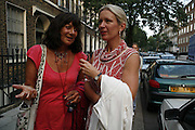 Valerie Grove and Frieda Hughes, The Spectator At Home. Doughty St. 6 July 2006. ONE TIME USE ONLY - DO NOT ARCHIVE  © Copyright Photograph by Dafydd Jones 66 Stockwell Park Rd. London SW9 0DA Tel 020 7733 0108 www.dafjones.com