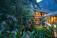 Inka Terra Hotel in Aguas Calientes. Aguas Calientes is a town in Peru on the Urubamba (Vilcanota) River. It is the closest access point to the sacred Incan city of Machu Picchu which is 6 kilometers away. The town has natural hot springs, which give its name (hot waters in Spanish).