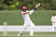 Chad Bowes of Canterbury bats. Canterbury vs. Central Districts Day 2, 1st round of the 2021-2022 Plunket Shield cricket competition at Hagley Oval, Christchurch, on Sunday 24th October 2021.<br /> © Copyright Photo: Martin Hunter/ www.photosport.nz