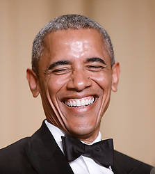 US President Barack Obama laughs during the annual White House Correspondent's Association Gala at the Washington Hilton hotel April 25, 2015 in Washington, DC, USA. The dinner is an annual event attended by journalists, politicians and celebrities. Photo by Olivier Douliery/ABACAPRESS.COM  | 497627_015 Washington Etats-Unis United States