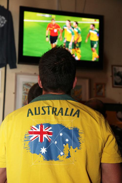 World Cup 2010 watched  on London TV<br /> Australia v Ghana at Bar Kick, Shoreditch