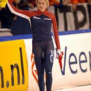 NLD/Heerenveen/20060122 - WK Sprint 2006, 2de 1000 meter dames, Marianne Timmer 3de plaats
