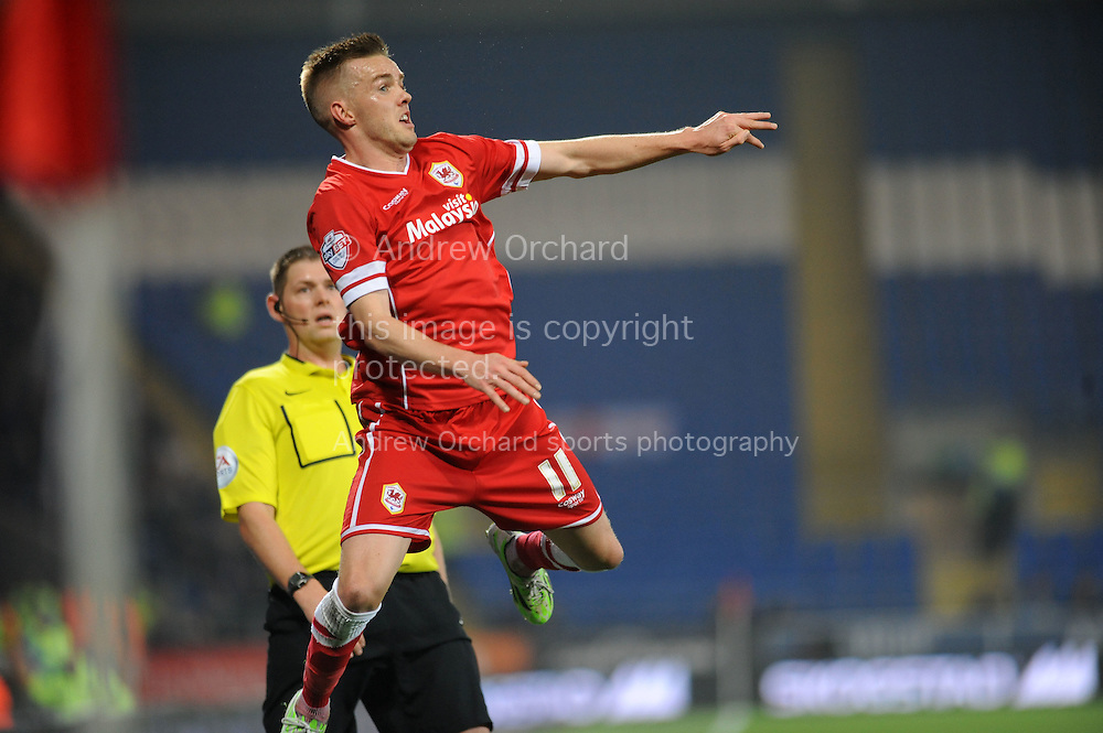 Craig Noone of Cardiff City.<br /> Skybet football league championship match, Cardiff city v Reading at the Cardiff city stadium in Cardiff, South Wales on Friday 21st November 2014<br /> pic by Phil Rees, Andrew Orchard sports photography.