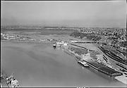 """Quaker Oats Co. Aerial.  April 2, 1951"" (Union Pacific Railroad Dock on right)"