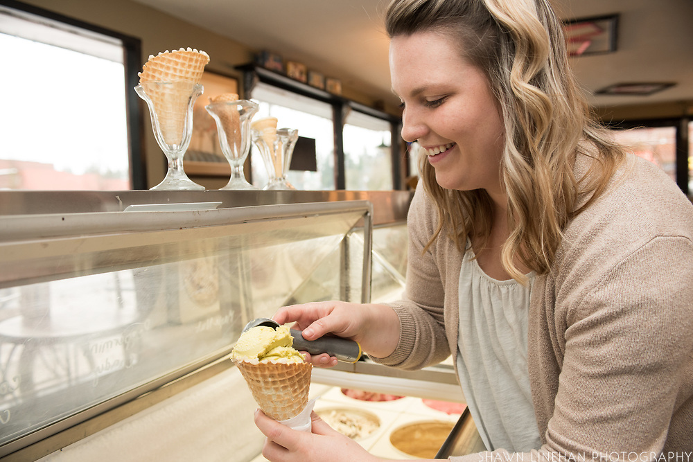 Ashley Archibald, co-owner of Archie's Ice Cream in Dayton, Oregon.