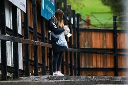 The match ball is cleaned by a covid officer- Mandatory by-line: Will Cooper/JMP - 18/10/2020 - FOOTBALL - Twerton Park - Bath, England - Bristol City Women v Birmingham City Women - Barclays FA Women's Super League