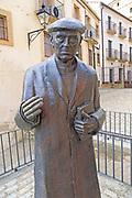 Statue of Don Ramon Nunez Martin, priest 1913-2006,  Trujillo, Caceres province, Extremadura, Spain