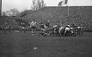 Irish Rugby Football Union, Ireland v France, Five Nations, Landsdowne Road, Dublin, Ireland, Saturday 25th January, 1969,.25.1.1969, 1.25.1969,..Referee- G C Lamb, Rugby Football Union, ..Score- Ireland 17 - 9 France, ..Irish Team, ..T J Kiernan,  Wearing number 15 Irish jersey, Captain of the Irish team, Full Back, Cork Constitution Rugby Football Club, Cork, Ireland,..A T A Duggan, Wearing number 14 Irish jersey, Right Wing, Landsdowne Rugby Football Club, Dublin, Ireland,..F P K Bresnihan, Wearing number 13 Irish jersey, Right Centre, University College Dublin Rugby Football Club, Dublin, Ireland, ..H H Rea, Wearing number 12 Irish jersey, Left Centre, Edinburgh University Rugby Football Club, Edinburgh, Scotland, ..J C M Moroney, Wearing number 11 Irish jersey, Left Wing, London Irish Rugby Football Club, Surrey, England, ..B J McGann, Wearing number 10 Irish jersey, Stand Off, Landsdowne Rugby Football Club, Dublin, Ireland, ..R M Young, Wearing number 9 Irish jersey, Scrum Half, Queens University Rugby Football Club, Belfast, Northern Ireland,..K G Goodall, Wearing number 8 Irish jersey, Forward, City of Derry Rugby Football Club, Derry, Northern Ireland,..N A Murphy, Wearing number 7 Irish jersey, Forward, Cork Constitution Rugby Football Club, Cork, Ireland,..J C Davidson, Wearing number 6 Irish jersey, Forward, Dungannon Rugby Football Club, Dungannon, Northern Ireland, ..M G Molloy, Wearing number 5 Irish jersey, Forward, London Irish Rugby Football Club, Surrey, England, ..W J McBride, Wearing number 4 Irish jersey, Forward, Ballymena Rugby Football Club, Antrim, Northern Ireland,..P O'Callaghan, Wearing number 3 Irish jersey, Forward, Dolphin Rugby Football Club, Cork, Ireland, ..K W Kennedy, Wearing number 2 Irish jersey, Forward, London Irish Rugby Football Club, Surrey, England, ..S Millar, Wearing number 1 Irish jersey, Forward, Ballymena Rugby Football Club, Antrim, Northern Ireland,..French Team, ..P Villepreux, Wearing number 15 French jersey, Fu