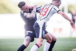 Falkirk's Jordan McGhee and Dunfermline's Aaron Splaine. Falkirk 2 v 0 Dunfermline, Scottish Challenge Cup played 7/9/2017 at The Falkirk Stadium.