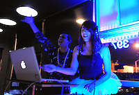 """DJ Anima, right, and emcee ATC spin dance music into Thursday morning at the third year anniversary of """"Social Wednesdays"""" at Casa Sorrento in Salinas. Salinas Valley Pride Celebrations, DJ Luna, and a supportive community have made these regular evenings popular."""
