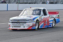June 22, 2018 - Madison, Illinois, U.S. - MADISON, IL - JUNE 22:  Tyler Young (20) driving a Chevrolet for Young?s Building Systems warms up before  the Camping World Truck Series - Eaton 200 on June 22, 2018, at Gateway Motorsports Park, Madison, IL.   (Photo by Keith Gillett/Icon Sportswire) (Credit Image: © Keith Gillett/Icon SMI via ZUMA Press)