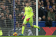 Goalkeeper Thibaut Courtois of Chelsea in action. Premier league match, Chelsea v Tottenham Hotspur at Stamford Bridge in London on Saturday 26th November 2016.<br /> pic by John Patrick Fletcher, Andrew Orchard sports photography.