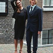 Huwelijk Patrick Kluivert en Angela van Hulten Amsterdam, Patty Brard en haar man Rene Muthert