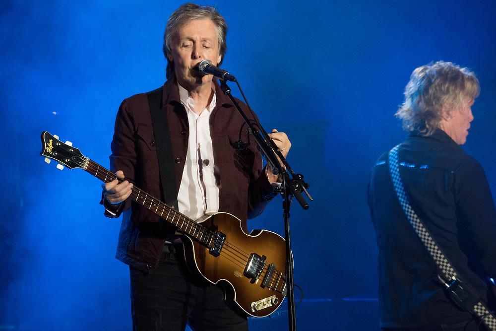 Paul McCartney headlines the Austin City Limits Music Festival in Austin, TX on October 5, 2018.