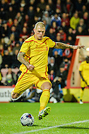 Martin Skrtel during the Capital One Cup match between Bournemouth and Liverpool at the Goldsands Stadium, Bournemouth, England on 17 December 2014.