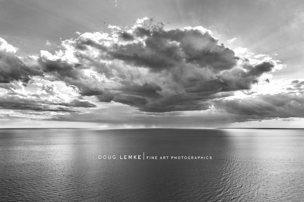 The Lake Michigan Overlook at Sleeping Bear Dunes National Lakeshore, Michigan, USA
