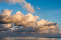 Ocean scapes around the Seychelles with clouds, Mahe, Seychelles