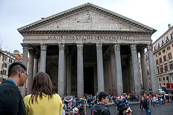 April 27, 2017 - Rome, Italy - The Pantheon - which is visited annually by 7 million tourists - will be visited by paying a ticket. (Credit Image: © Patrizia Cortellessa/Pacific Press via ZUMA Wire)