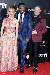 Kelly Preston, rapper 50 Cent and actor John Travolta attending the New York Premiere of 'Gotti' at SVA Theater on June 14, 2018 in New York City, NY, USA. Photo by Dennis Van Tine/ABACAPRESS.COM