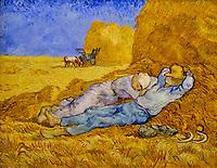 France, Paris (75), zone classée Patrimoine Mondial de l'UNESCO, Musée d'Orsay, La Méridienne ou La Sieste, Vincent Van Gogh // France, Paris, Orsay museum, The Meridian Line or The Siesta, Vincent Van Gogh