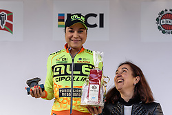 Ana Trevisi (Alé Cipollini) Sprint Competition winner - Emakumeen Saria - Durango-Durango 2016. A 113km road race starting and finishing in Durango, Spain on 12th April 2016.