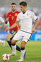 Spain's Borja Mayoral (l) and Italy's Bonifazi during international sub 21 friendly match. September 1,2017.(ALTERPHOTOS/Acero)