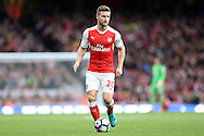Shkodran Mustafi of Arsenal in action.Premier league match, Arsenal v Middlesbrough at the Emirates Stadium in London on Saturday 22nd October 2016.<br /> pic by John Patrick Fletcher, Andrew Orchard sports photography.