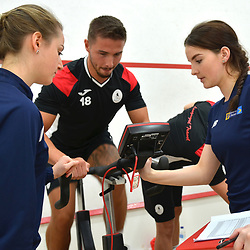 Zak Lilly is put through his paces as AFC Telford United return to pre-season training at Lilleshall National Sports Centre on Saturday, June 29, 2019.<br /> <br /> Free for editorial use only<br /> Picture credit: Mike Sheridan/Ultrapress<br /> <br /> MS201920-003