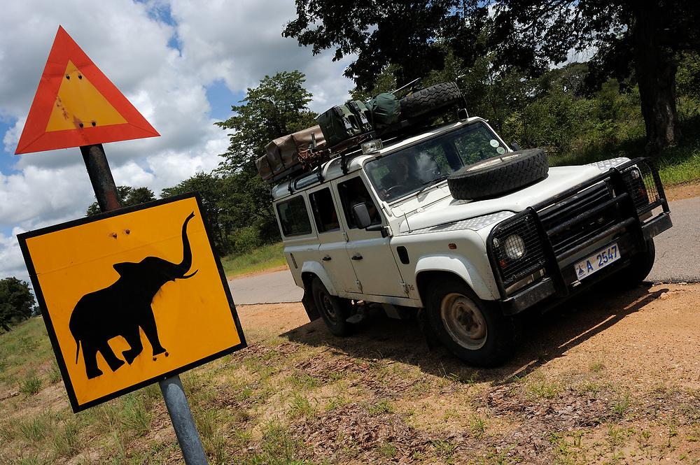 Elephant warning sign, Zimbabwe
